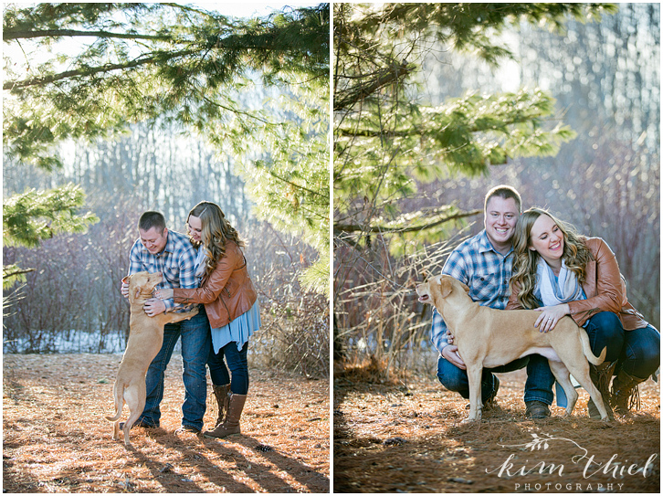 kim-thiel-photography_pine-plaid-engagement_01, Spring Engagement