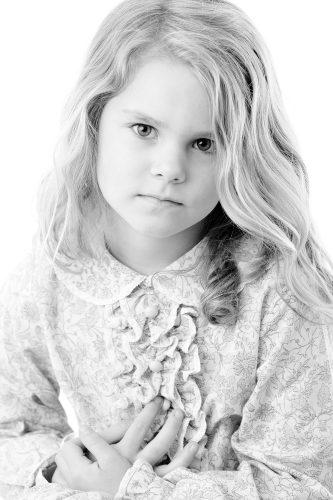 kids portraits, studio portraits, black and white headshots